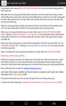 Bo luat Dan su Viet Nam 2015 apk screenshot