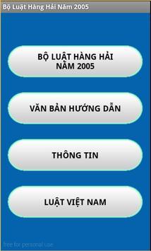 Bo luat Hang hai Viet Nam 2005 poster