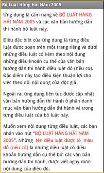 Bo luat Hang hai Viet Nam 2005 apk screenshot