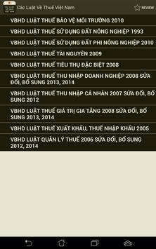 Luat Thue Viet Nam apk screenshot
