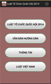 Luat To chuc quoc hoi 2014 poster