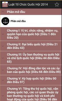 Luat To chuc quoc hoi 2014 apk screenshot