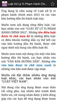 Luat Xu ly vi pham hanh chinh apk screenshot