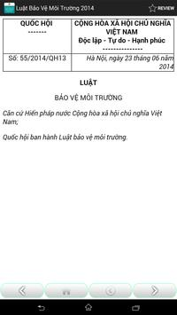 Luat Bao ve moi truong 2014 apk screenshot