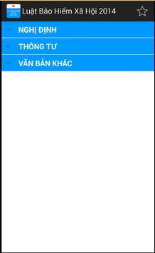 Luat Bao hiem xa hoi 2014 apk screenshot