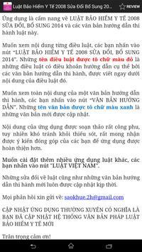Luat Bao hiem y te VN 2008 apk screenshot