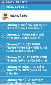 Luat Bien Viet Nam 2012 apk screenshot