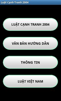 Luat Canh tranh Viet Nam 2004 poster