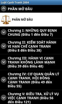 Luat Canh tranh Viet Nam 2004 apk screenshot