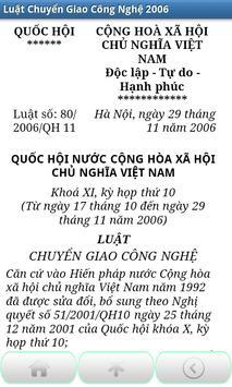 Luat Chuyen giao cong nghe VN apk screenshot