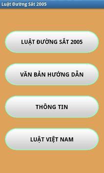 Luat Duong sat Viet Nam 2005 poster