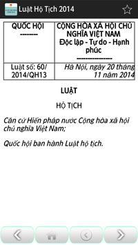 Luat Ho tich Viet Nam 2014 apk screenshot