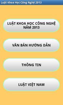 Luat Khoa hoc cong nghe 2013 poster