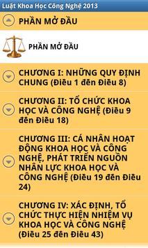 Luat Khoa hoc cong nghe 2013 apk screenshot