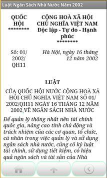 Luat Ngan sach nha nuoc 2002 apk screenshot