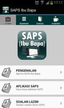 SAPS Ibu Bapa Semakan Online poster