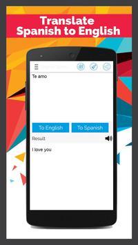 Spanish English Translator poster