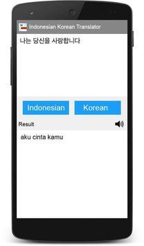 Indonesian Korean Translator apk screenshot