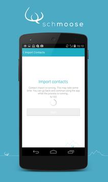 schmoose Contact Access apk screenshot
