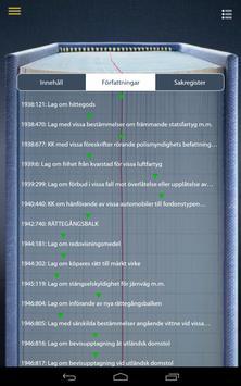 Sveriges Rikes Lag - lagboken apk screenshot