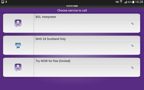 InterpreterNow apk screenshot