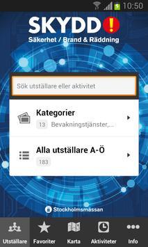 SKYDD-Mässan, 14-16 October poster