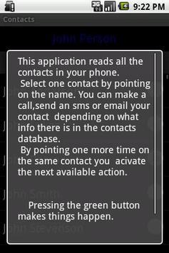 Contacts apk screenshot