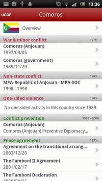 Uppsala Conflict Database apk screenshot