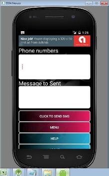 Send Bulk SMS using Text files apk screenshot