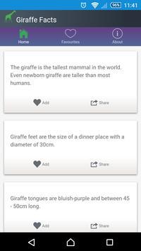 Giraffe Facts apk screenshot
