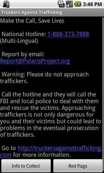 Truckers Against Trafficking poster