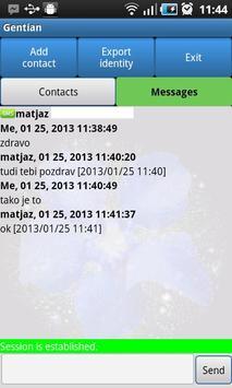 Gentian - Encrypted SMS apk screenshot