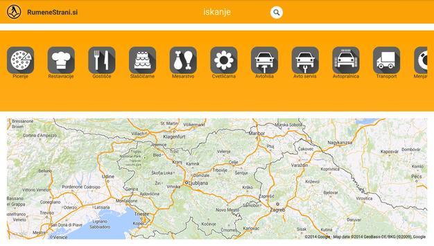 RumeneStrani.si apk screenshot