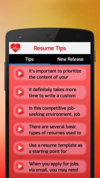 Resume Tips poster