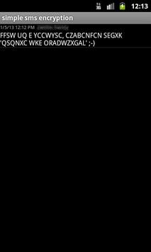 simple sms encryption apk screenshot