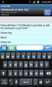 FreeTalk(chatting) apk screenshot