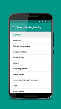 Automobile Engineering poster