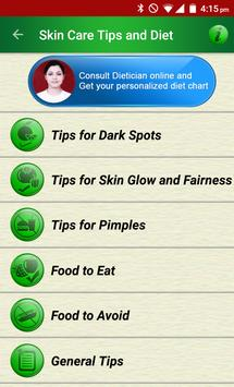 Skin Care Beauty & Diet Tips poster