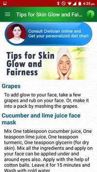 Skin Care Beauty & Diet Tips apk screenshot
