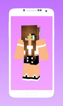 Skins for minecraft pe girl poster