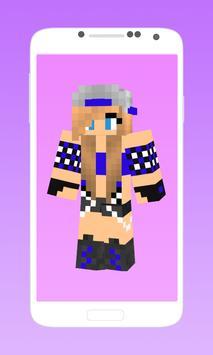 Skins for minecraft pe girl apk screenshot