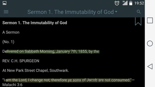 Spurgeon's Sermons apk screenshot