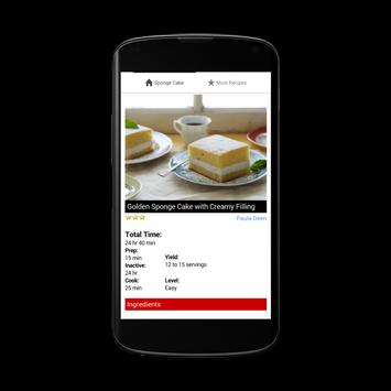Sponge Cake Recipes apk screenshot