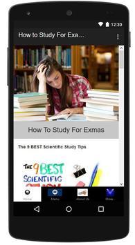 How to Study For Examinations apk screenshot