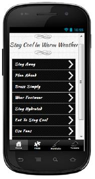 Stay Cool In Warm Weather poster