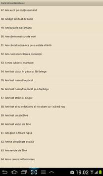 Carte de cantari  clasic apk screenshot
