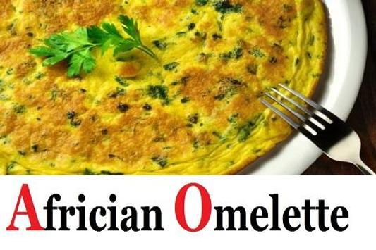 African Omelette Recipe poster