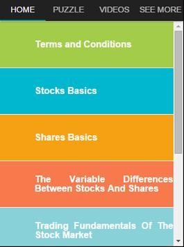 Stocks and Shares Investing poster