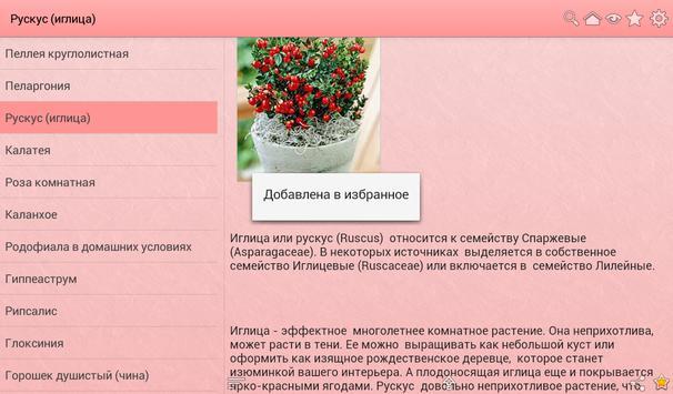Комнатные растения apk screenshot