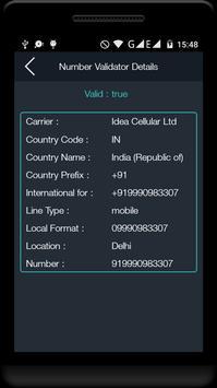 Mobile No Tracker & Validator apk screenshot